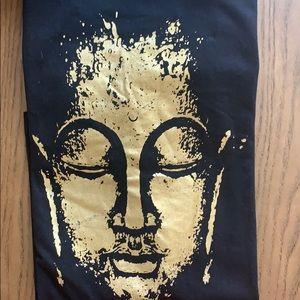 100% Cotton gold and black Buddha T-shirt. Large
